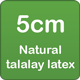 5cm natural talalay latex